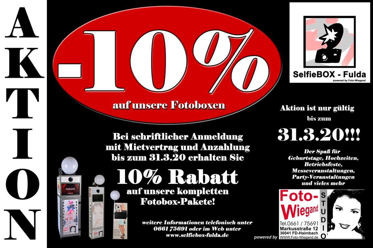 Fotobox Rabattaktion